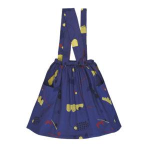 deep blue dress with pockets