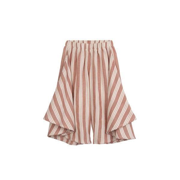 striped wid leg pants
