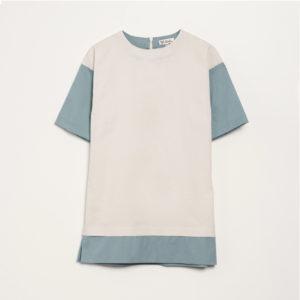 3/4 SLEEVE CONTRAST DRESS